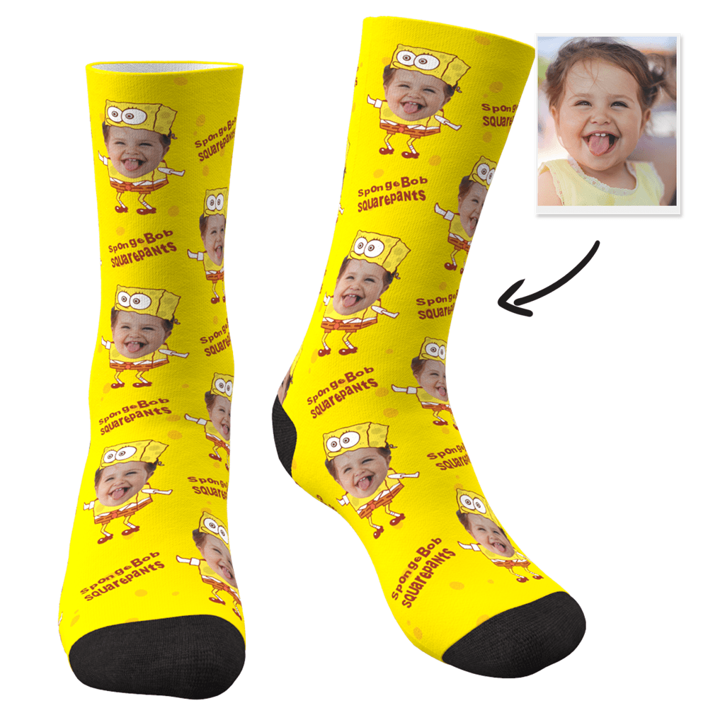 Custom Face Socks Spongebob Squarepants