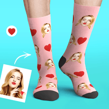 Custom Personalized Photo Funny Emoticons Face Socks