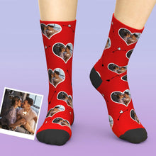 Custom Photo Cupid's Arrow Valentines Printed Socks