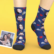 Custom Valentines Socks Love Your Lip And Rose
