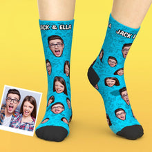 Custom Face Valentines Comic Elements Printed Socks