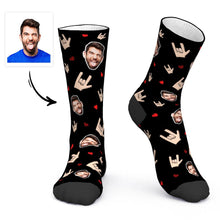 Custom Face Socks Sign Language ASL Socks I Love You