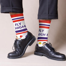 Custom Face Socks Big Text With Face Personalized Photo Socks - Fly High