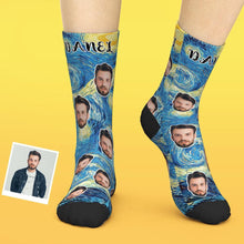 Custom Face Socks Add Photo And Name Personalized Photo Socks - Creative Oil Painting
