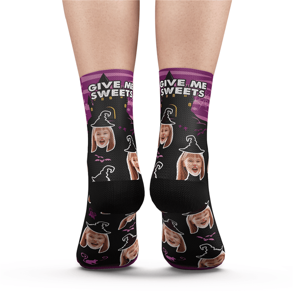 Custom Halloween Ghost Face Socks With Your Text