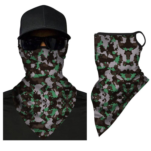 Multi-purpose Joker Triangle Bandana Full Face Covering Face Covers For Outdoor Sport Face Shield Sunscreen Neck Gaiter - MyFaceSocksAU