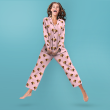 Custom Face Pyjamas Colorful Long Sleeve Pyjamas