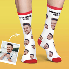 Custom Face Socks Colorful Candy Series - Black
