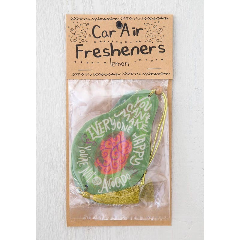 Natural Life avocado car air freshener