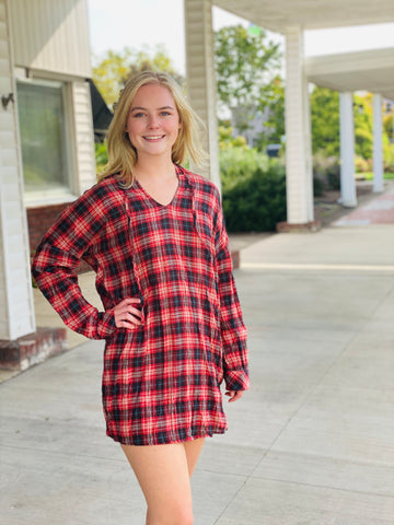 Charmed By You Plaid Dress/Tunic
