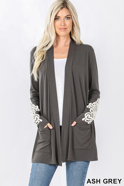 Lace Patch Cardigan