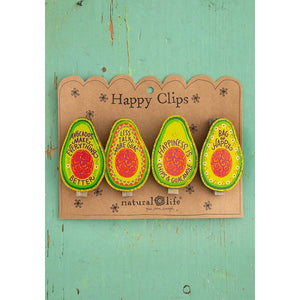 Natural Life avocado magnet happy clips