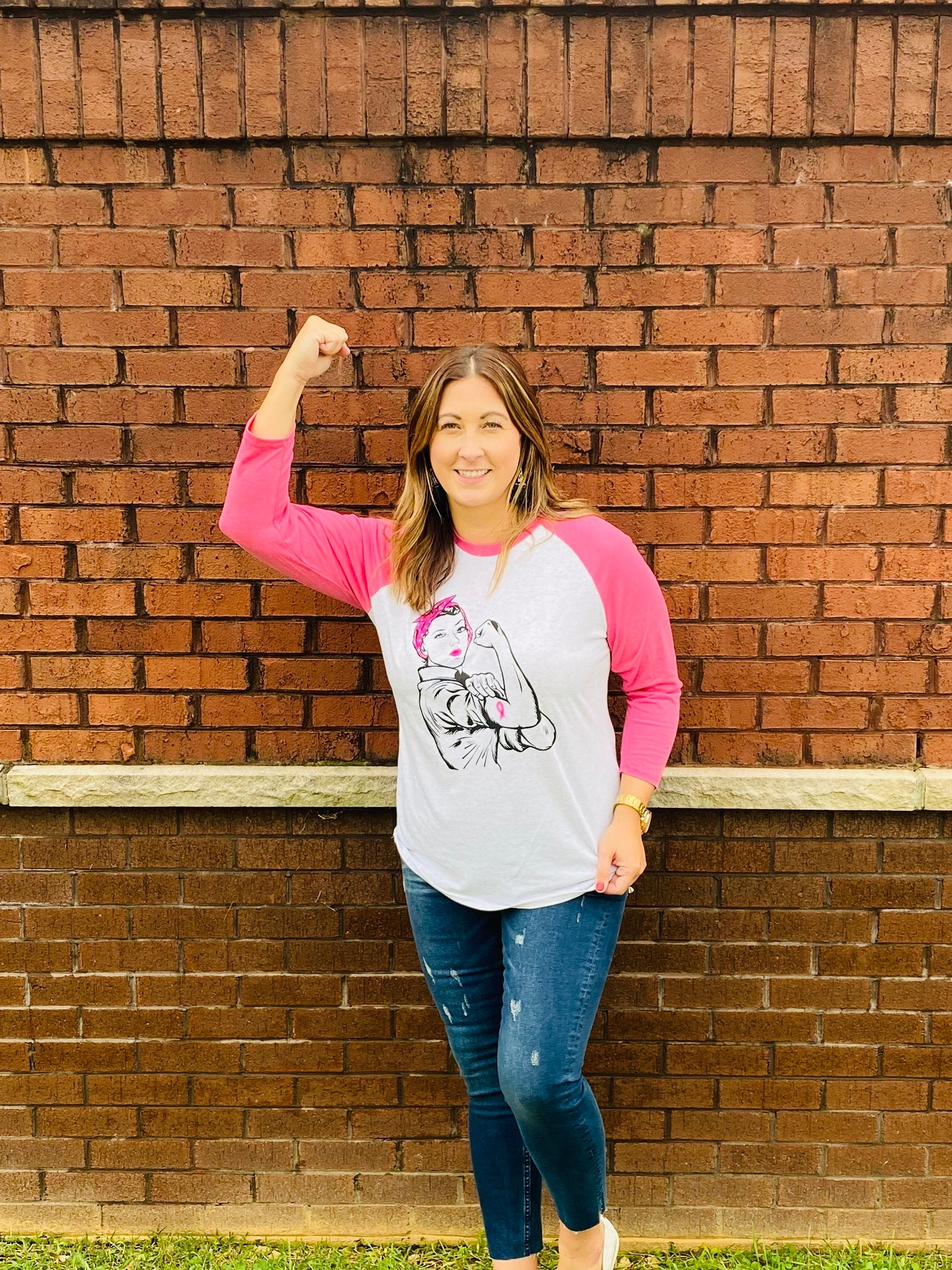 Rosie Breast Cancer Raglan