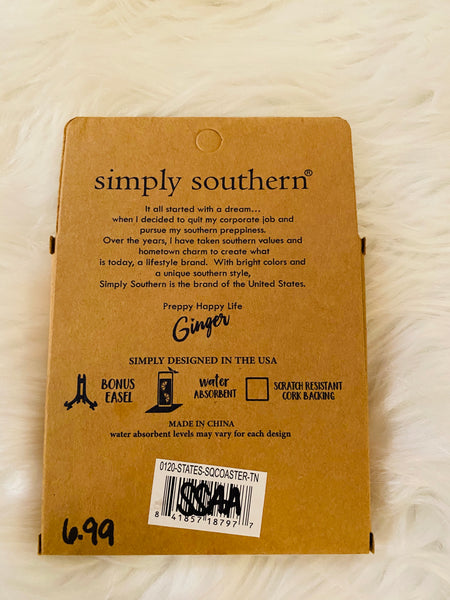 Tennessee Simply Coaster from Simply Southern