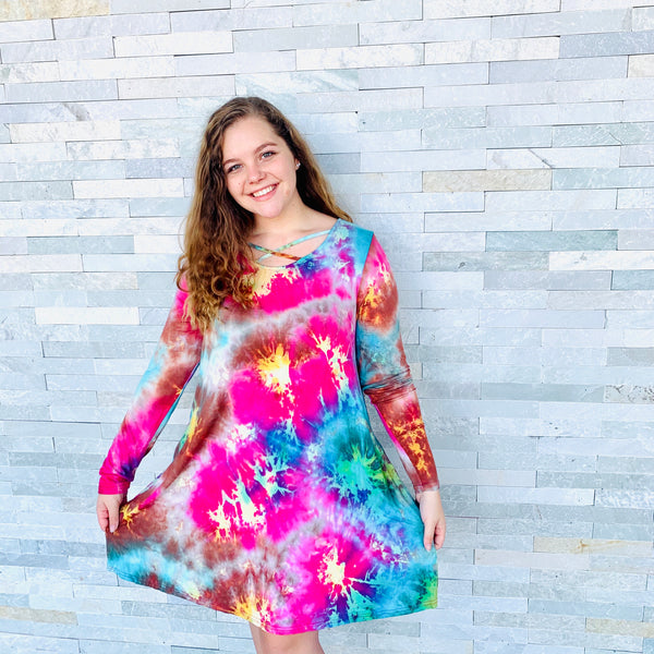 Tie-Dye Love dress