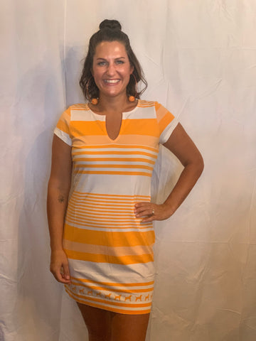 Striped Smokey Dress