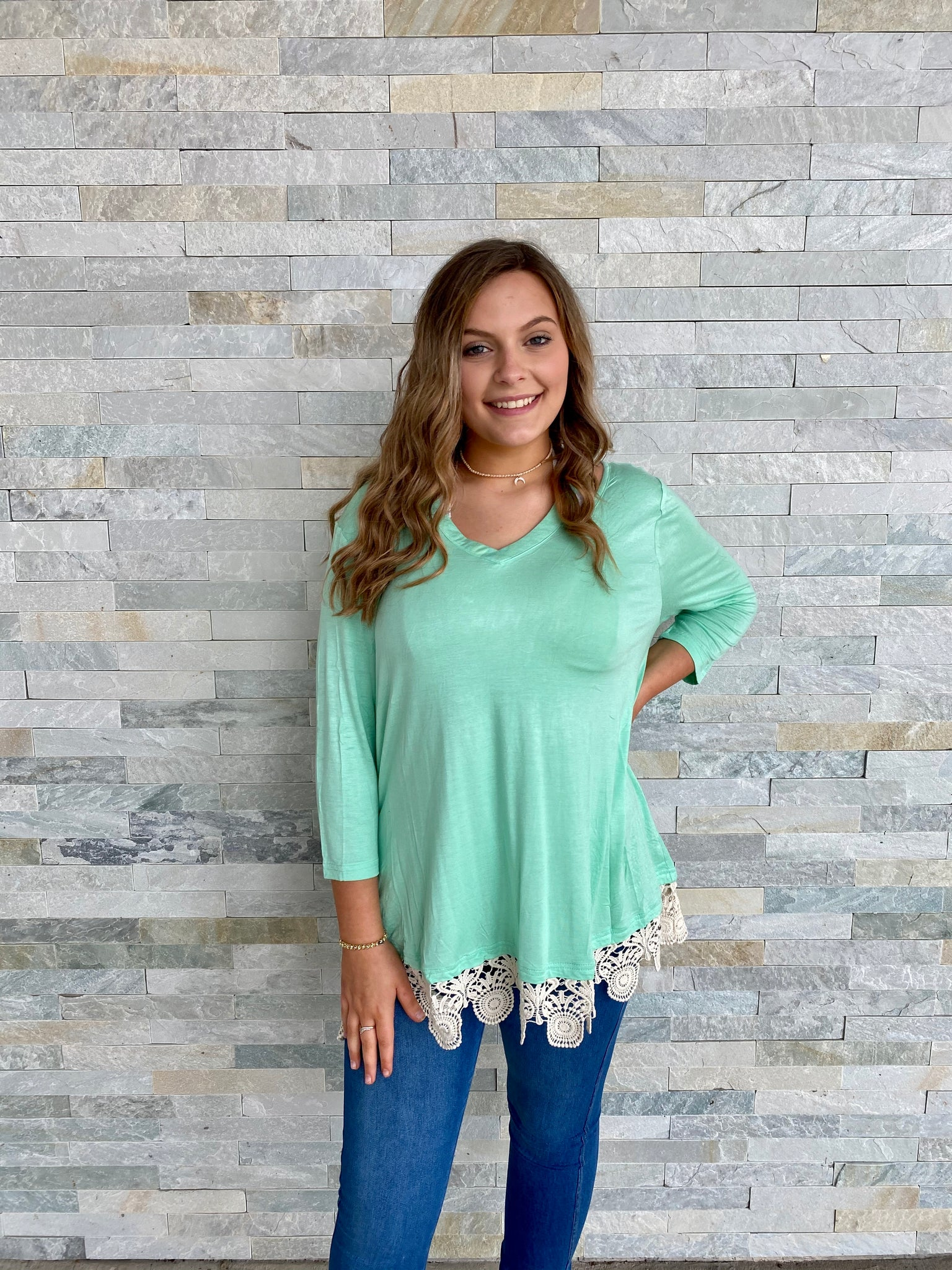 Lace of love tunic