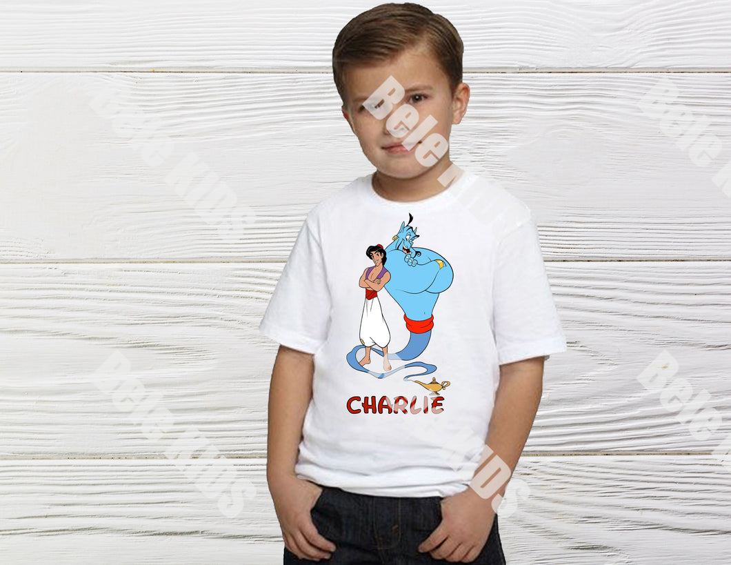 bele-kids-fashions,Boys Aladdin birthday shirt.