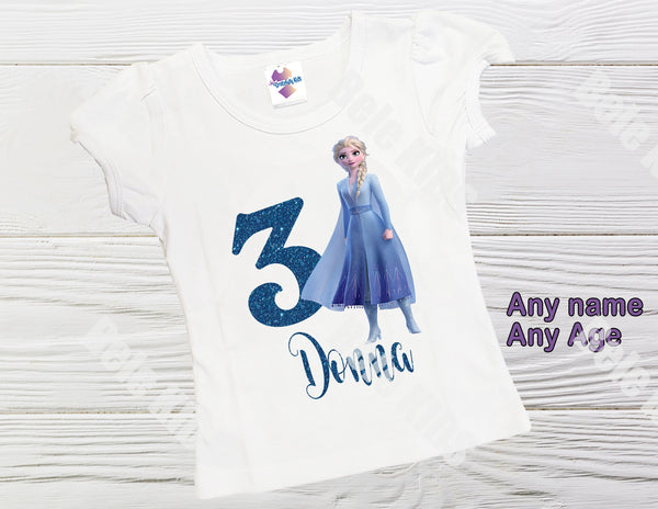 Elsa Frozen birthday shirt