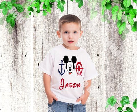 Boys Mickey Nautical shirt Boys Disney Anchor Mickey Boys shirts