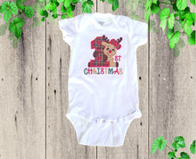 Load image into Gallery viewer, BABY FIRST CHRISTMAS outfit Baby Christmas dress Christmas Reindeer outfit