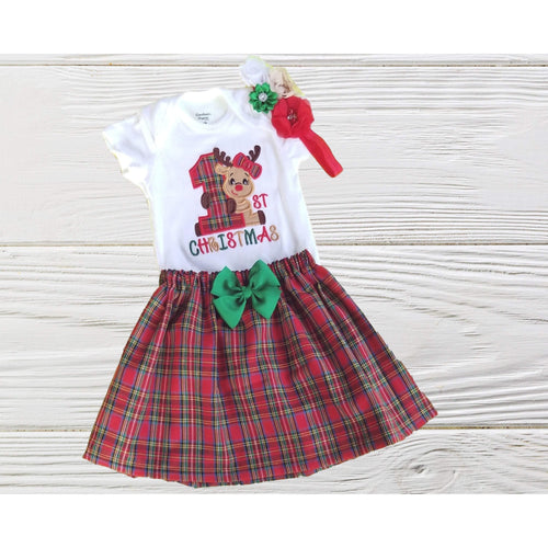 BABY FIRST CHRISTMAS outfit Baby Christmas dress Christmas Reindeer outfit-Bele Kids Fashion