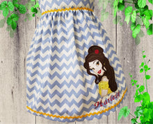 Load image into Gallery viewer, Girl dress Girl Belle birthday dress  Princess Belle toddler dress Personalized  dress