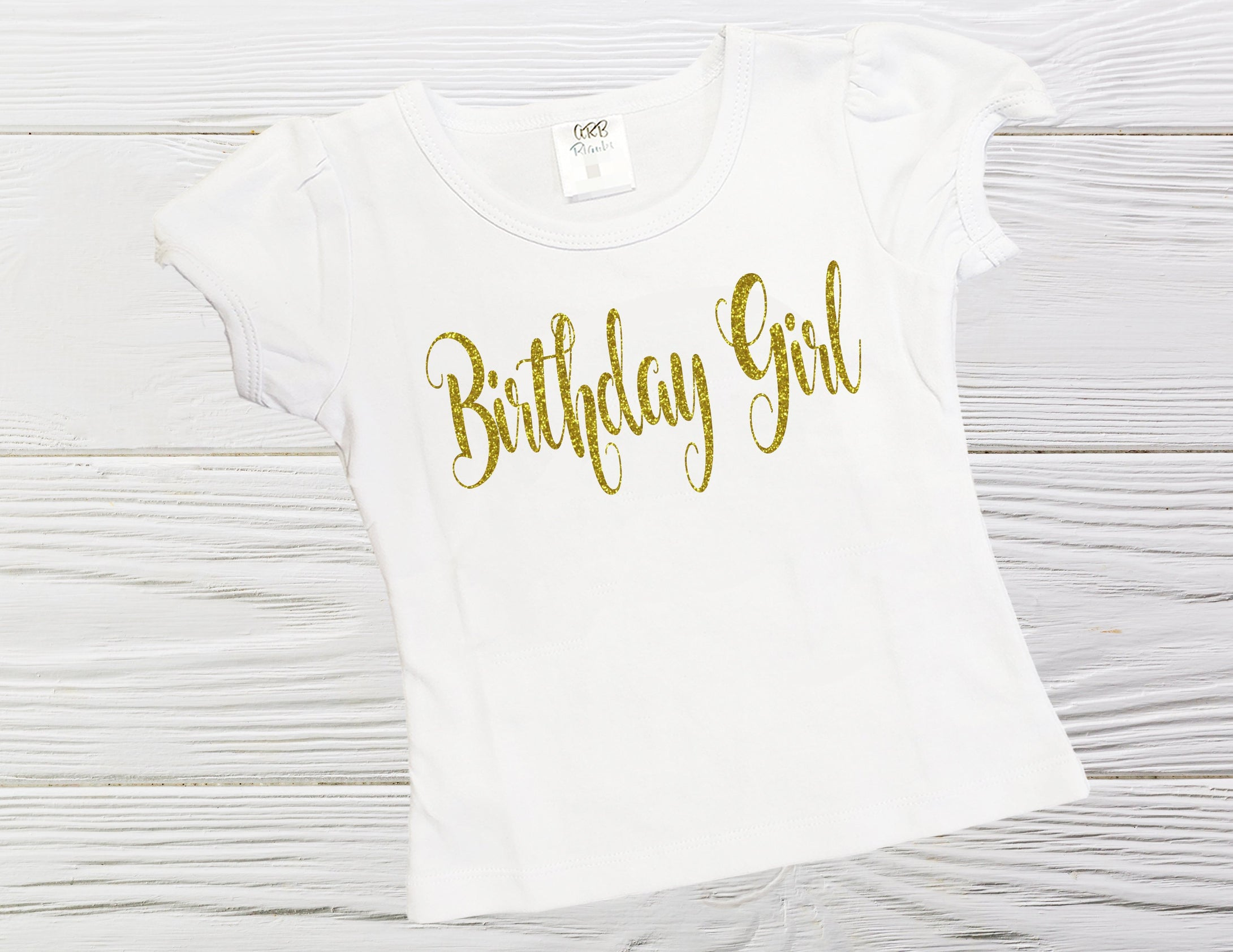 BIRTHDAY GIRT  SHIRT - Personalized glitter shirt - Graphic birthday girl shirt - Girls shirts - Custom shirts