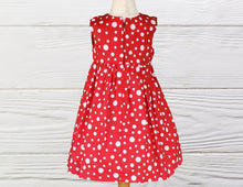 Load image into Gallery viewer, CHRISTMAS DRESS - Holiday girls dress - Red Christmas dress - Dresses
