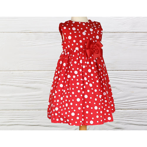 CHRISTMAS DRESS - Holiday girls dress - Red Christmas dress - Dresses