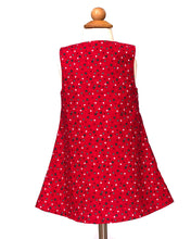 Load image into Gallery viewer, Christmas dress Red polka dots reindeer dress  Christmas reindeer Jumper dress Red Christmas dress
