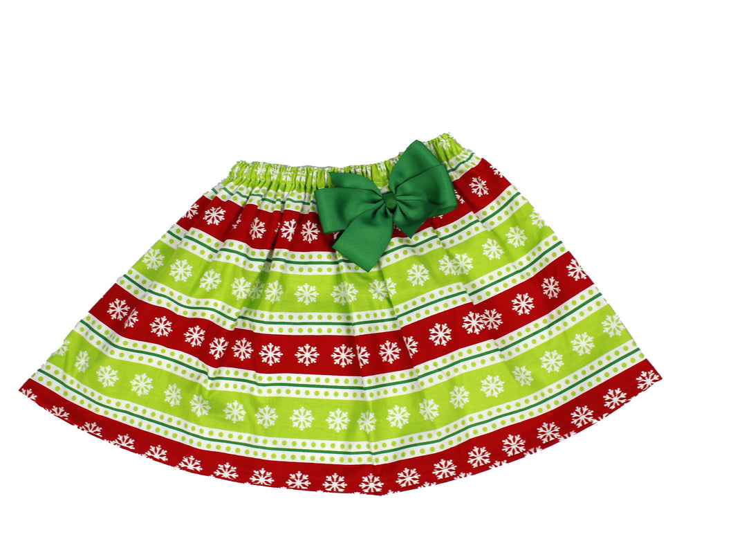 Christmas girls skirts  Toddler Christmas skirt  Red and green Christmas skirts  Girls Skirt