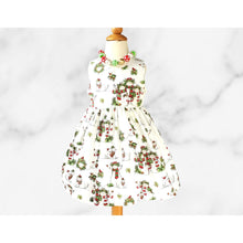 Load image into Gallery viewer, CHRISTMAS  PARTY DRESS -  Christmas  dress - Baby Christmas Dress - Christmas Snow Man - Holiday girls dress -Girl Christmas Snow Man  dress