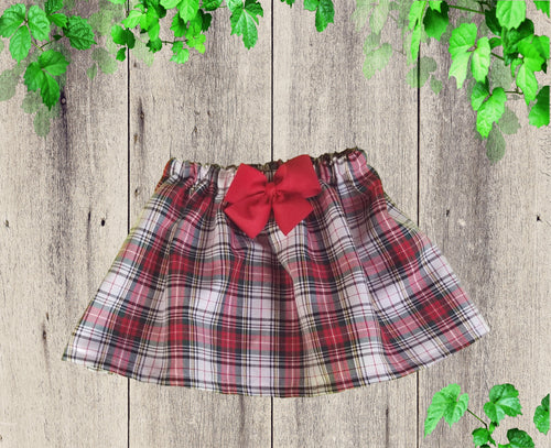 Christmas red girl skirt  Baby  Christmas skirt  Birthday skirt  Skirt and head band Girls