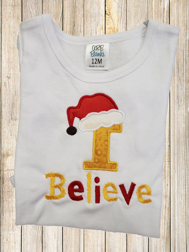 Christmas shirt I Believe girl  boys shirt Fall shirt Girls shirts Christmas Winter Fall Shirts