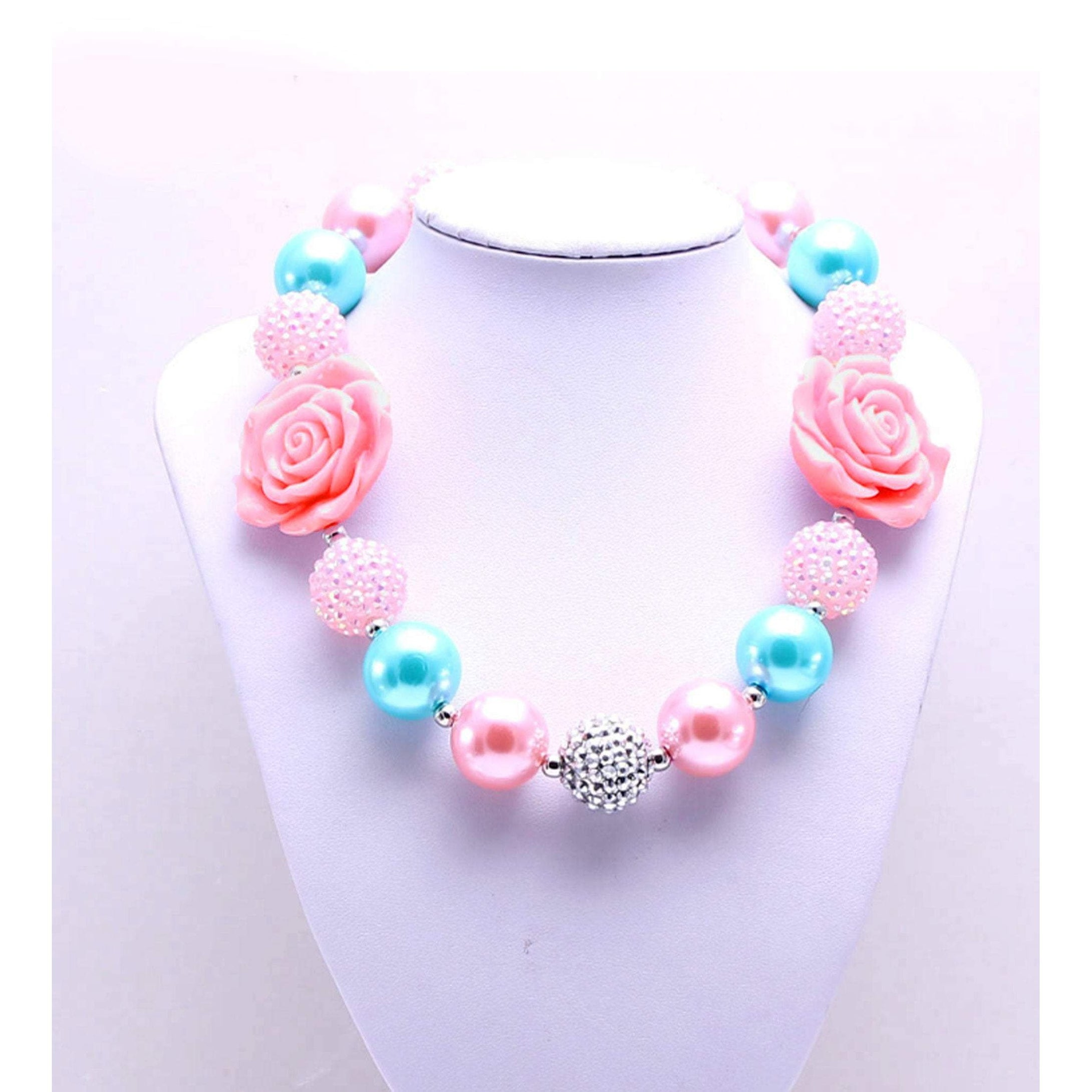 bele-kids-fashions,Chunky Bubble Gum Necklace for young girls and toddlers..