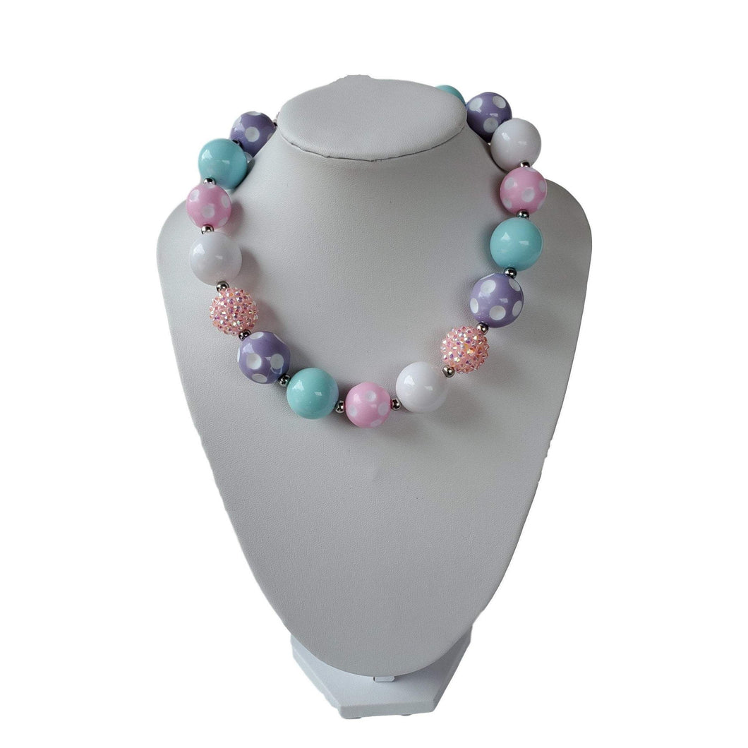 bele-kids-fashions,Chunky Bubble Gum Necklace for young girls and toddlers Fancy necklace.