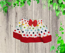 Load image into Gallery viewer, Colorful polka dots birthday skirt girl polka dots skirt Toddler skirt