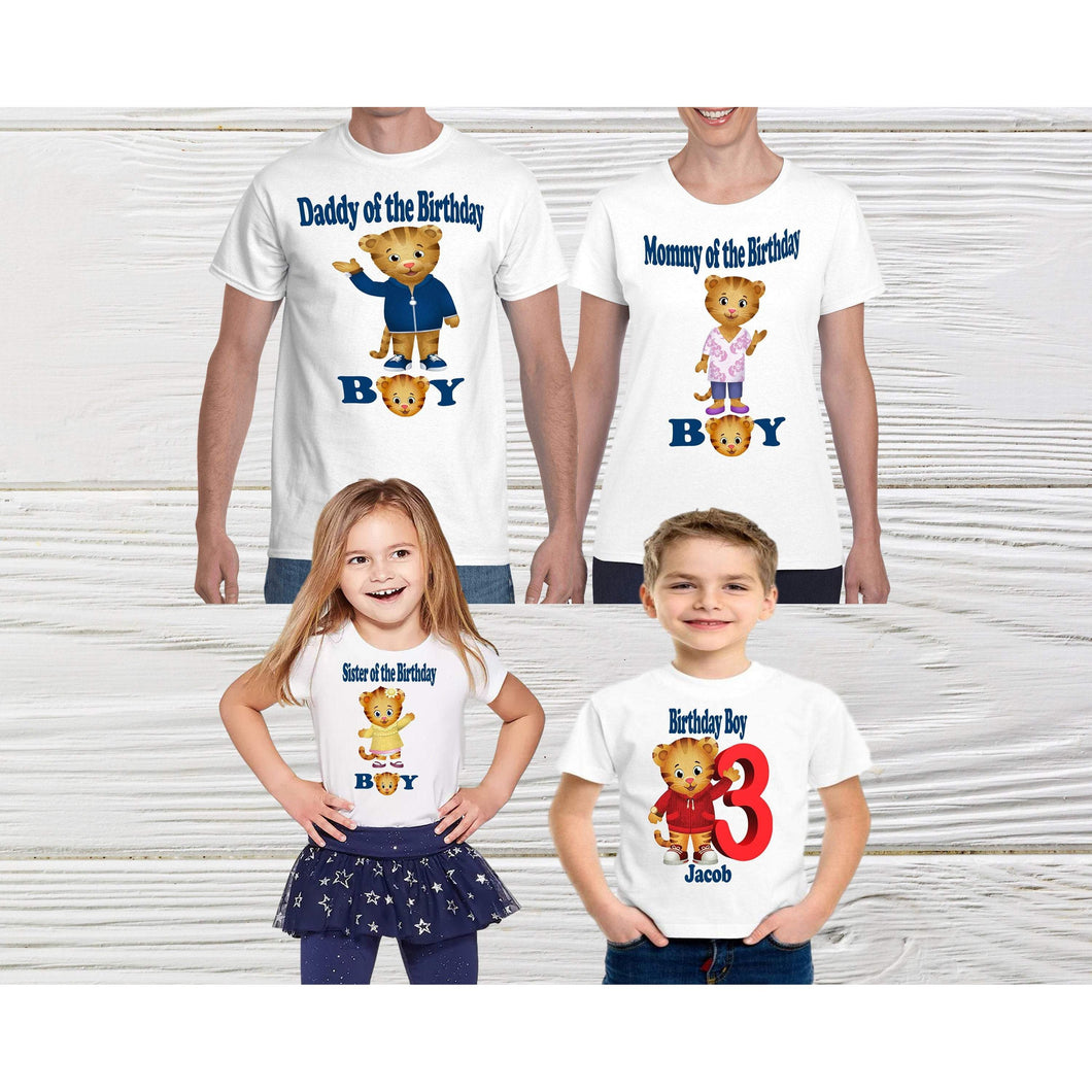 bele-kids-fashions,DANIEL TIGER SHIRT - Kids Animal Shirt - Kids Matching Outfits - 1st Birthday Gift - Daniel Tiger Clothes - Personalized Shirts.