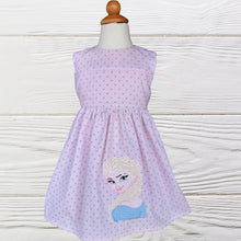 Load image into Gallery viewer, ELSA GIRL  DRESS - Frozen Elsa  Dress - Baby Girl Clothes -Elsa birthday dress - Girl Dress - Toddler Frozen Elsa Dress - Birthday  dress