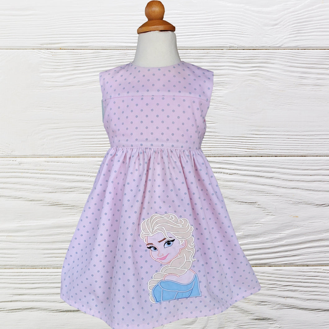 ELSA GIRL  DRESS - Frozen Elsa  Dress - Baby Girl Clothes -Elsa birthday dress - Girl Dress - Toddler Frozen Elsa Dress - Birthday  dress