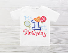 Load image into Gallery viewer, First birthday Boys shirt Boys birthday shirt Custom birthday shirt