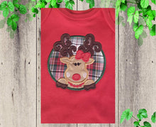 Load image into Gallery viewer, FIRST CHRSITMAS OUTFIT  Baby Christmas  outfit  Toddler Girl Christmas dress Christmas Reindeer outfit Personalized Christmas outfit