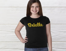 Load image into Gallery viewer, GIRT NAME SHIRT - Personalized glitter shirt - Graphic name shirt - Girls shirts - Custom shirts