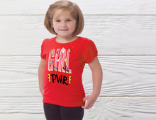Load image into Gallery viewer, Girls Power Shirt Girl shirt Power girl shirt Toddler Girl Shirts