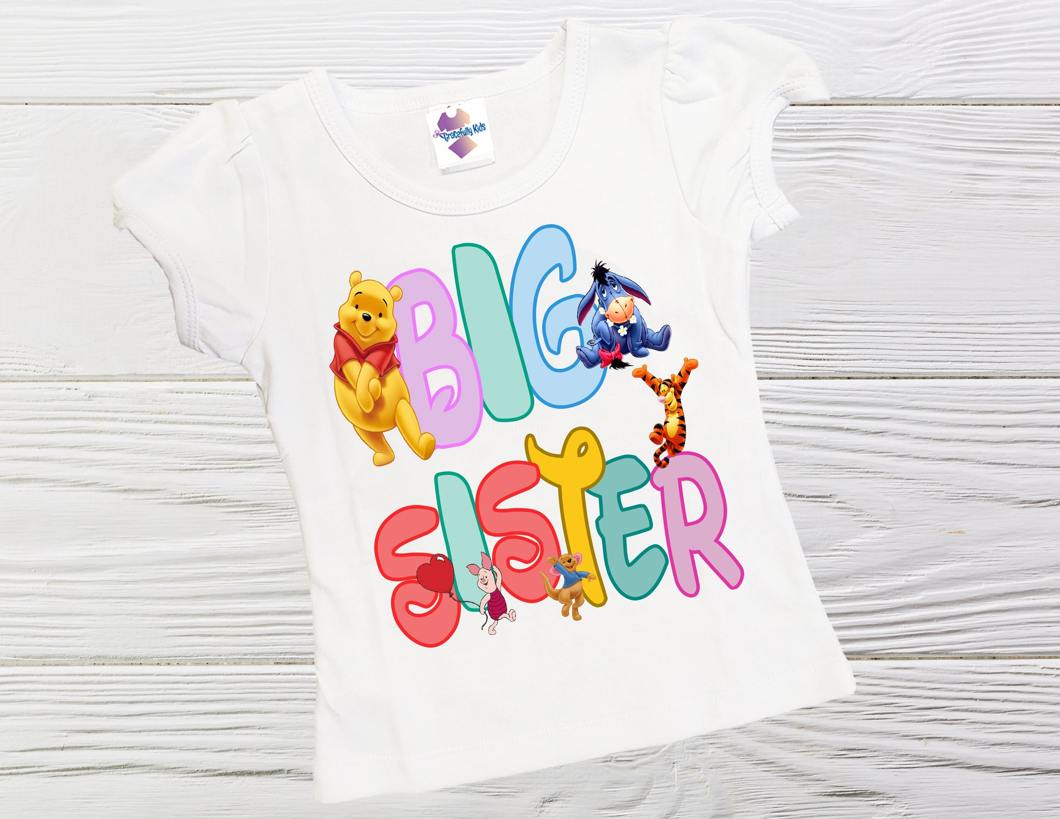 Winnie the Pooh Big Sister shirt Pooh and friends big sister shirt