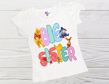 Load image into Gallery viewer, Winnie the Pooh Big Sister shirt Pooh and friends big sister shirt