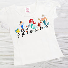 Load image into Gallery viewer, FRIEND SHIRT - Little Mermaid Friend shirt -  Ariel Friend shirt - Little girls shirts - Toddler Mermaid shirt - Girls Friends shirts