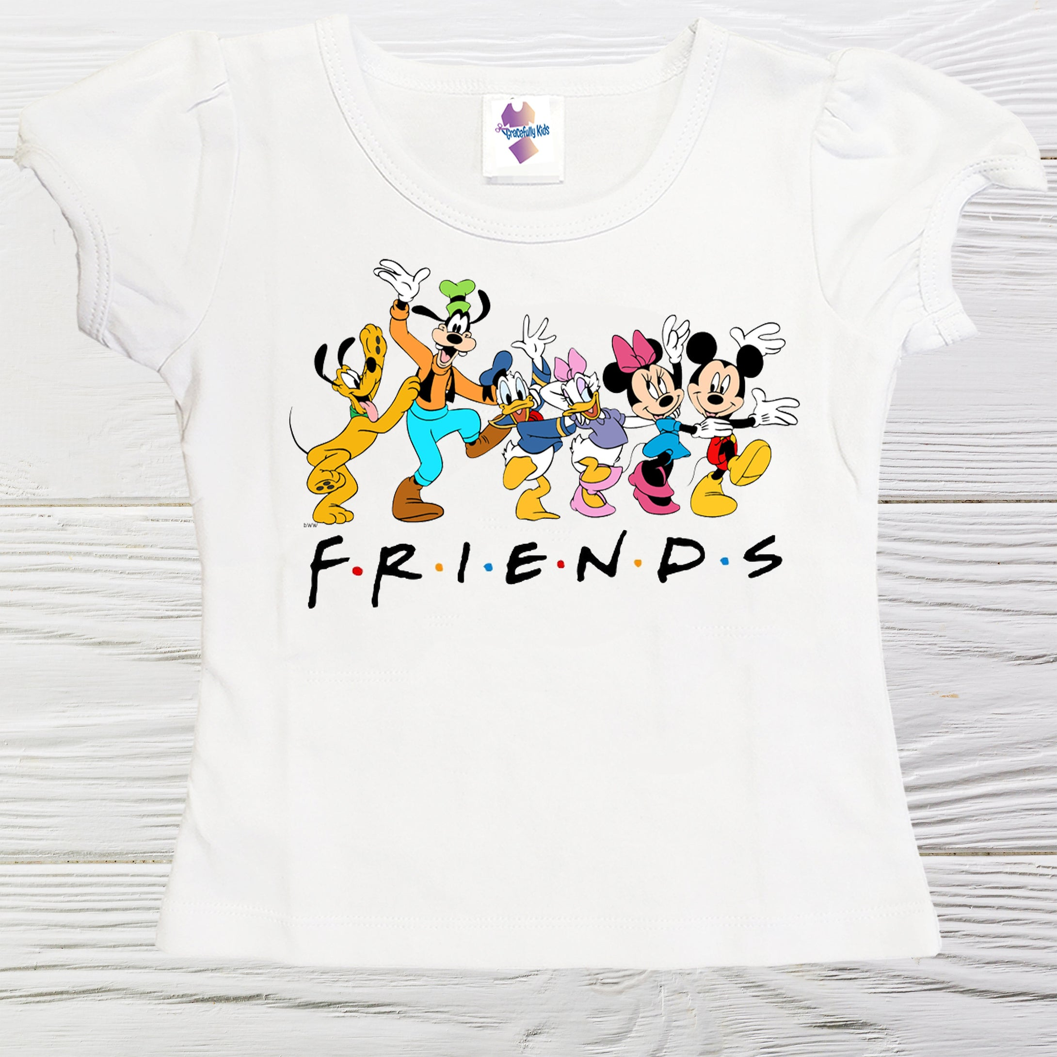 Mickey Friends shirt - Friends girls shirts - Mickey girls shirt - Friends - Mickey Minnie shirt