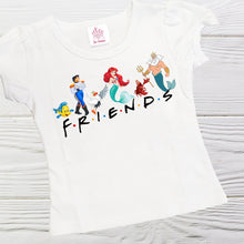 Load image into Gallery viewer, Little Mermaid  Friends shirt - Little Mermaid  and friends girls shirts - Friends shirt - Girls shirts -Ariel Friends